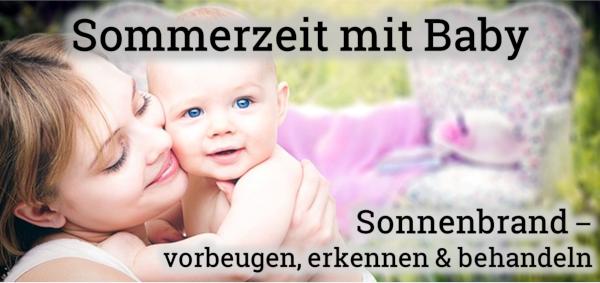 Bild: Sonnenbrand beim Baby vorbeugen und behandeln