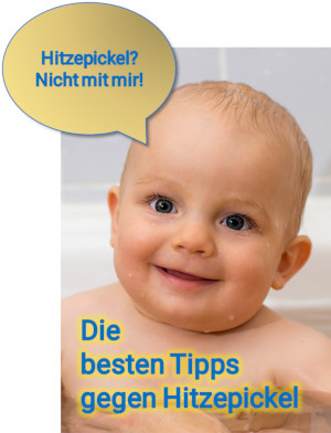 Tipps gegen Hitzepickel beim Baby