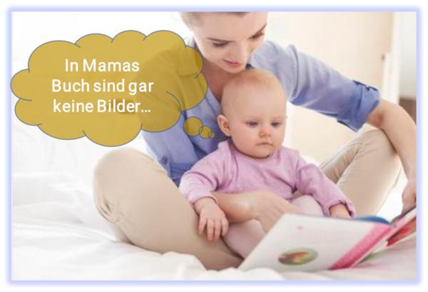 Bild: Mama zeigt Baby die Lernunterlagen