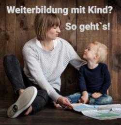 Bild: Weiterbildung mit Baby: Mutter lernt mit Kind